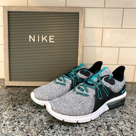 b494f67412 Nike Shoes | Womens Air Max Sequent 3 Blackteal Size 75 | Poshmark